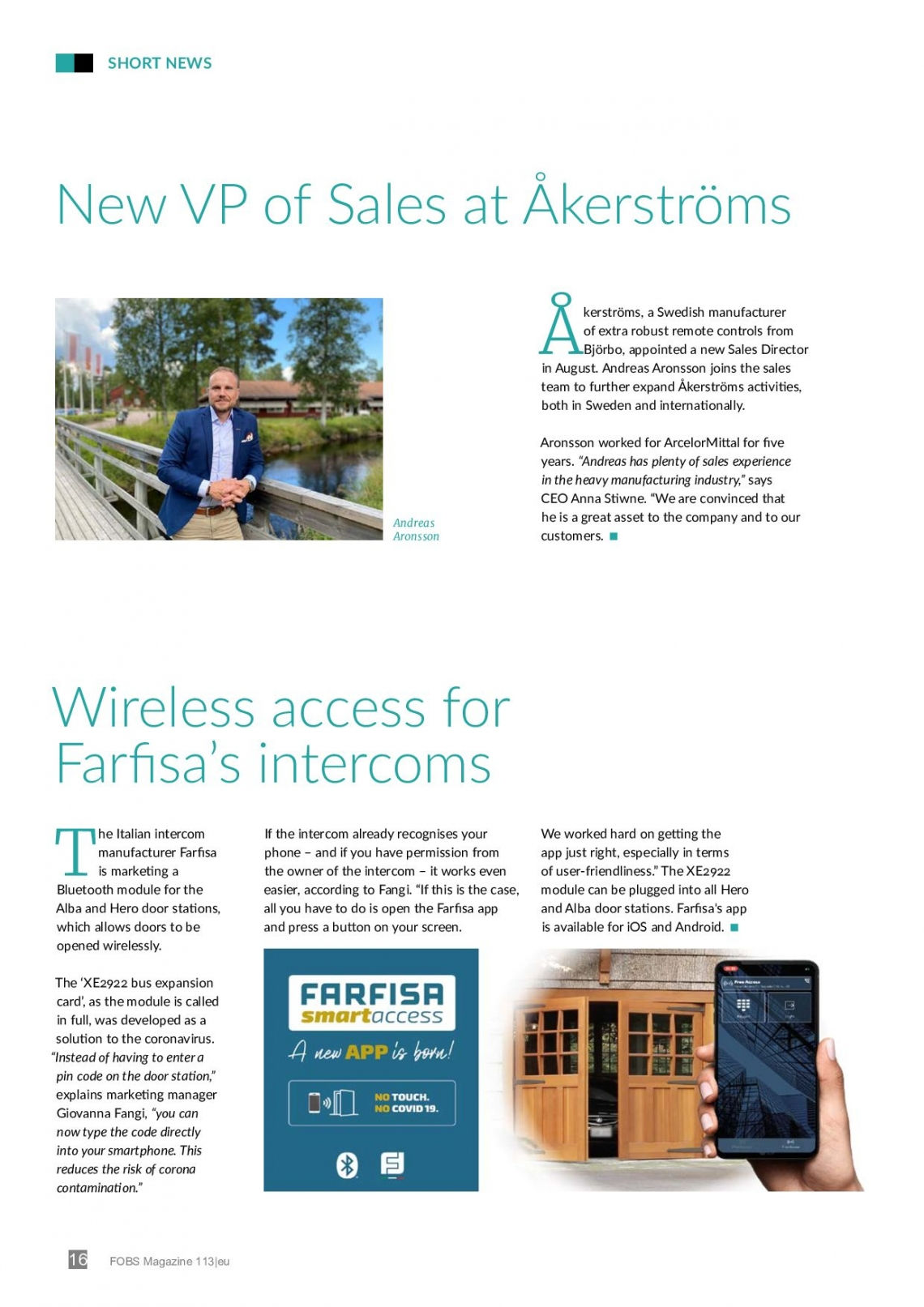 Con la aplicación Farfisa Smart Access abres la puerta con tu smartphone