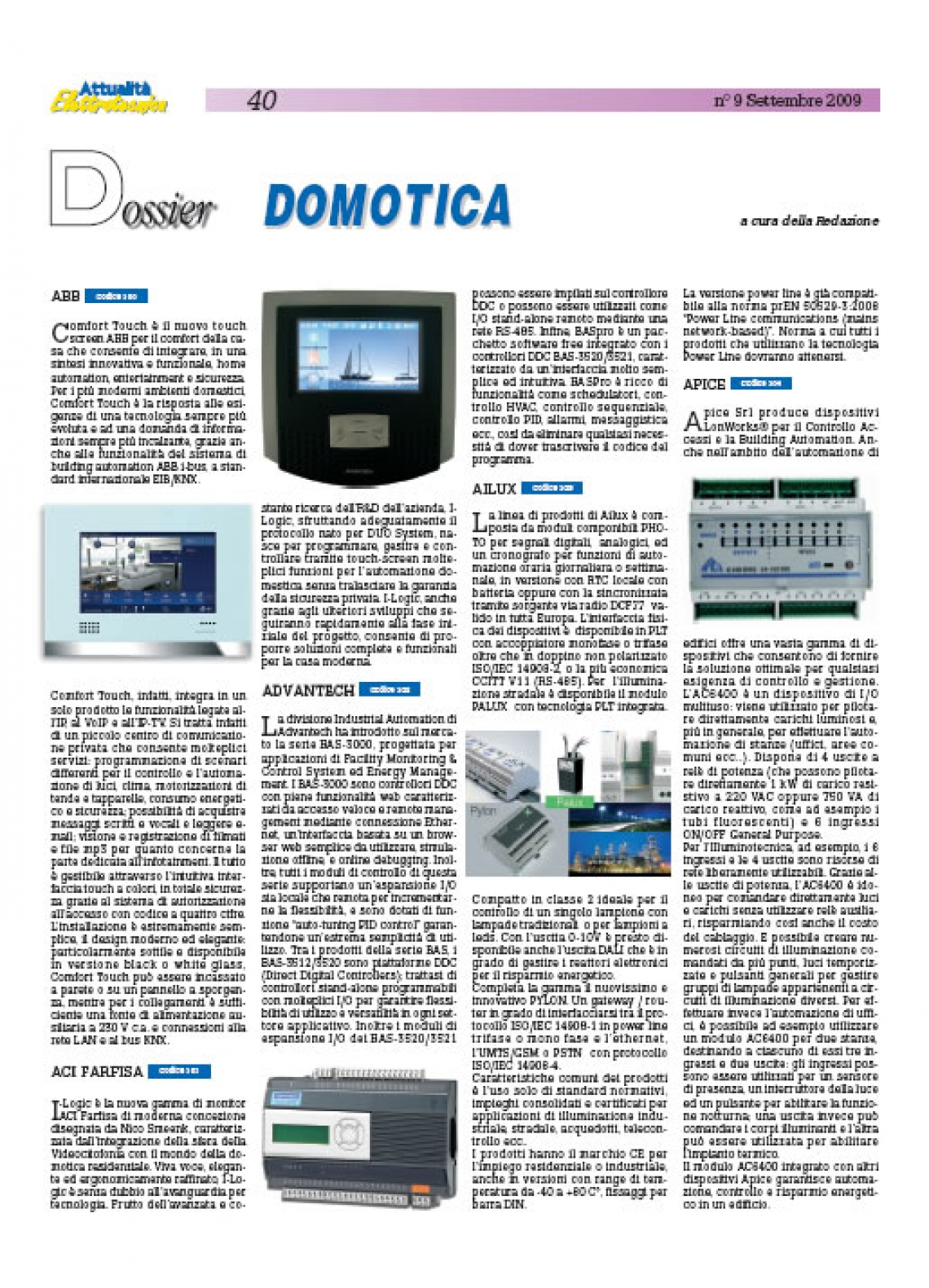Dossier Domotica