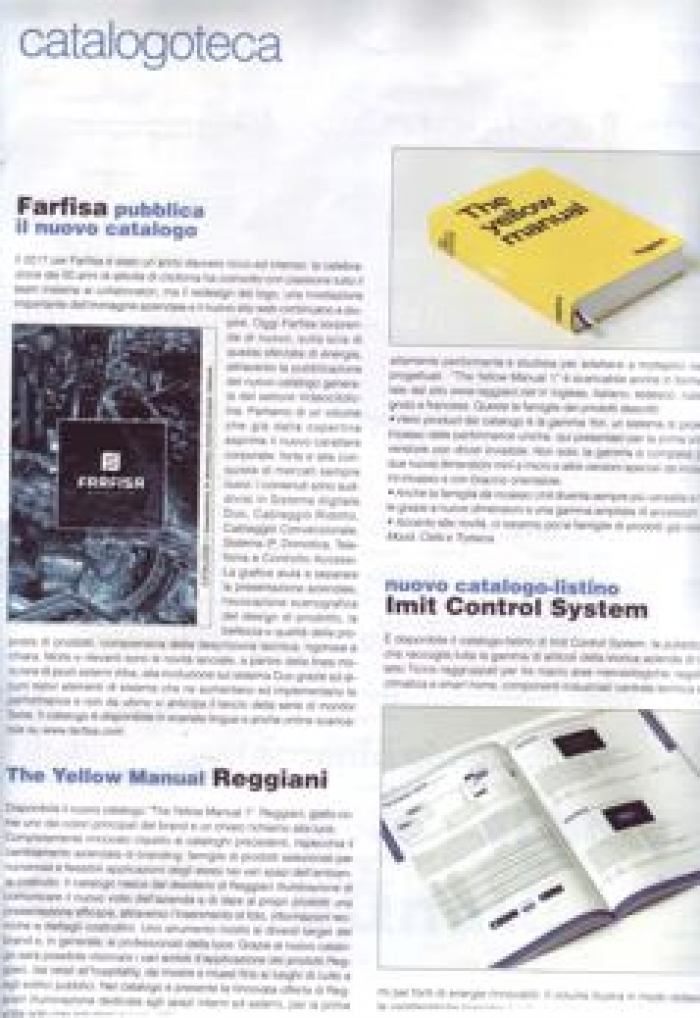 Farfisa pubblica il nuovo catalogo