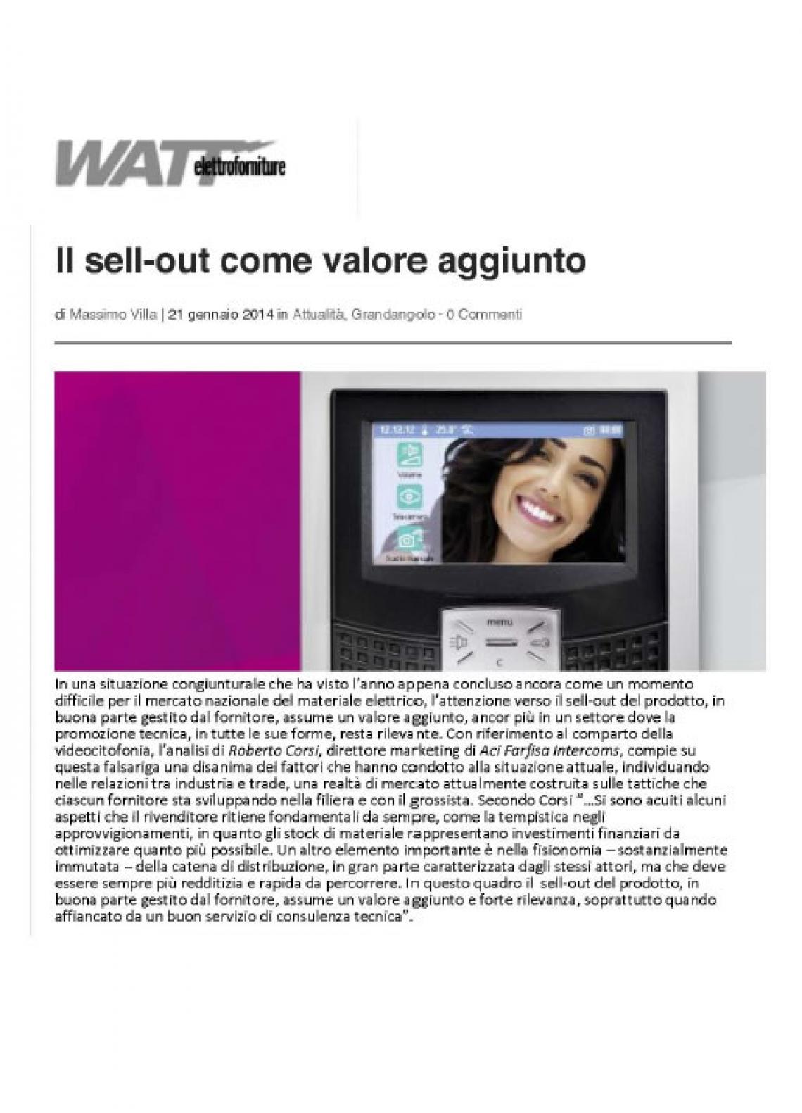 Il sell-out come valore aggiunto