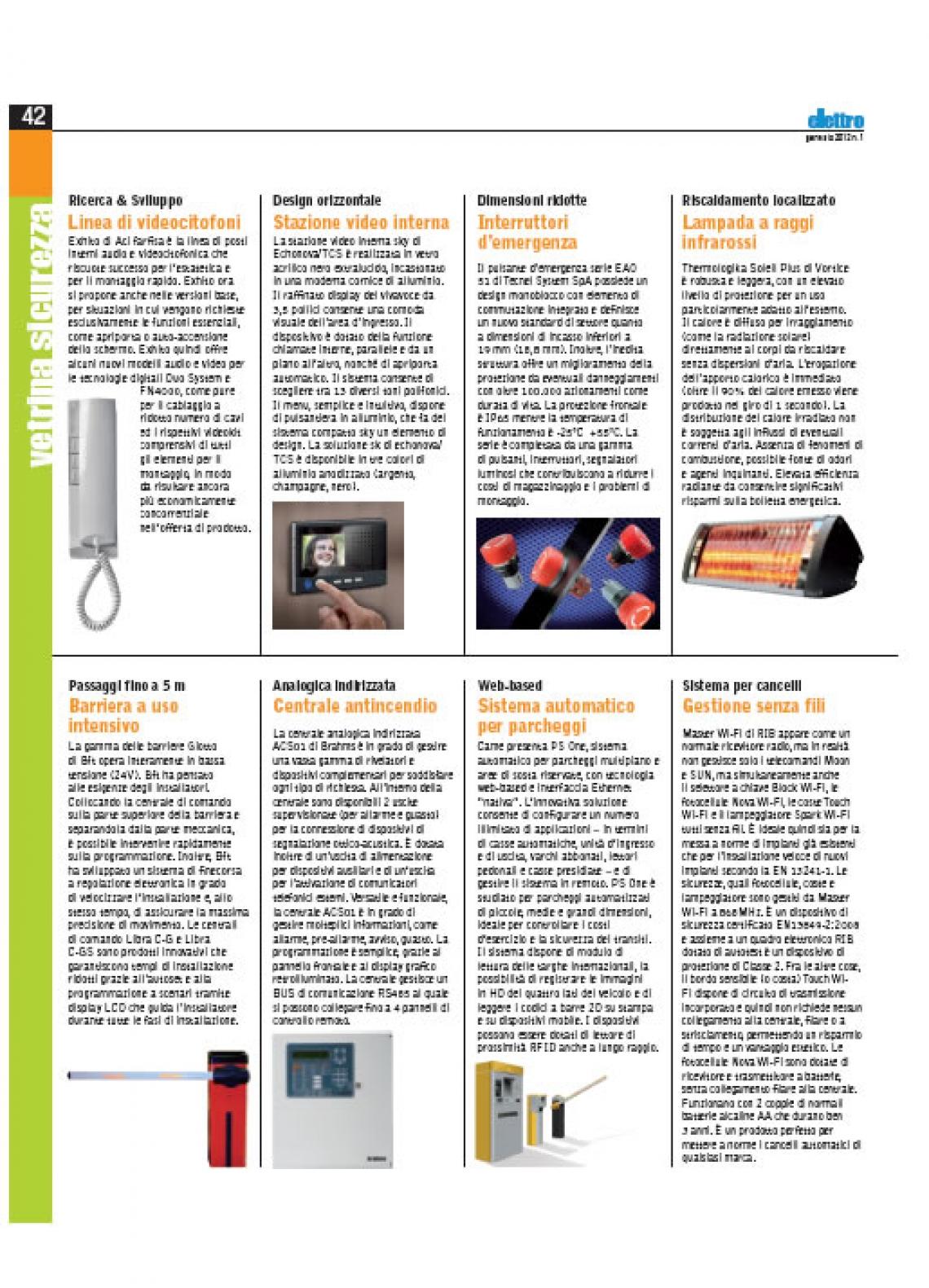 Implementazioni su gamma videocitofonica Exhito