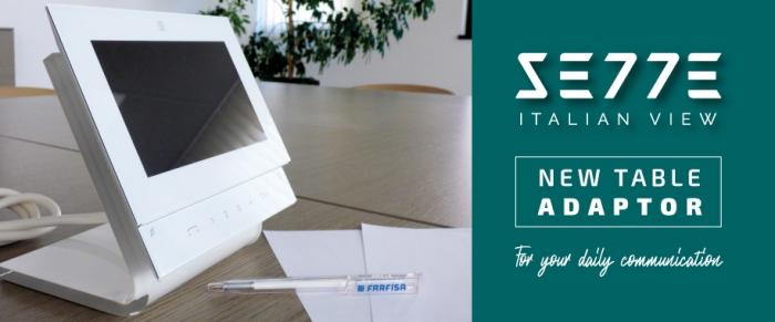 Nuevo adaptador de mesa para videoportero Sette