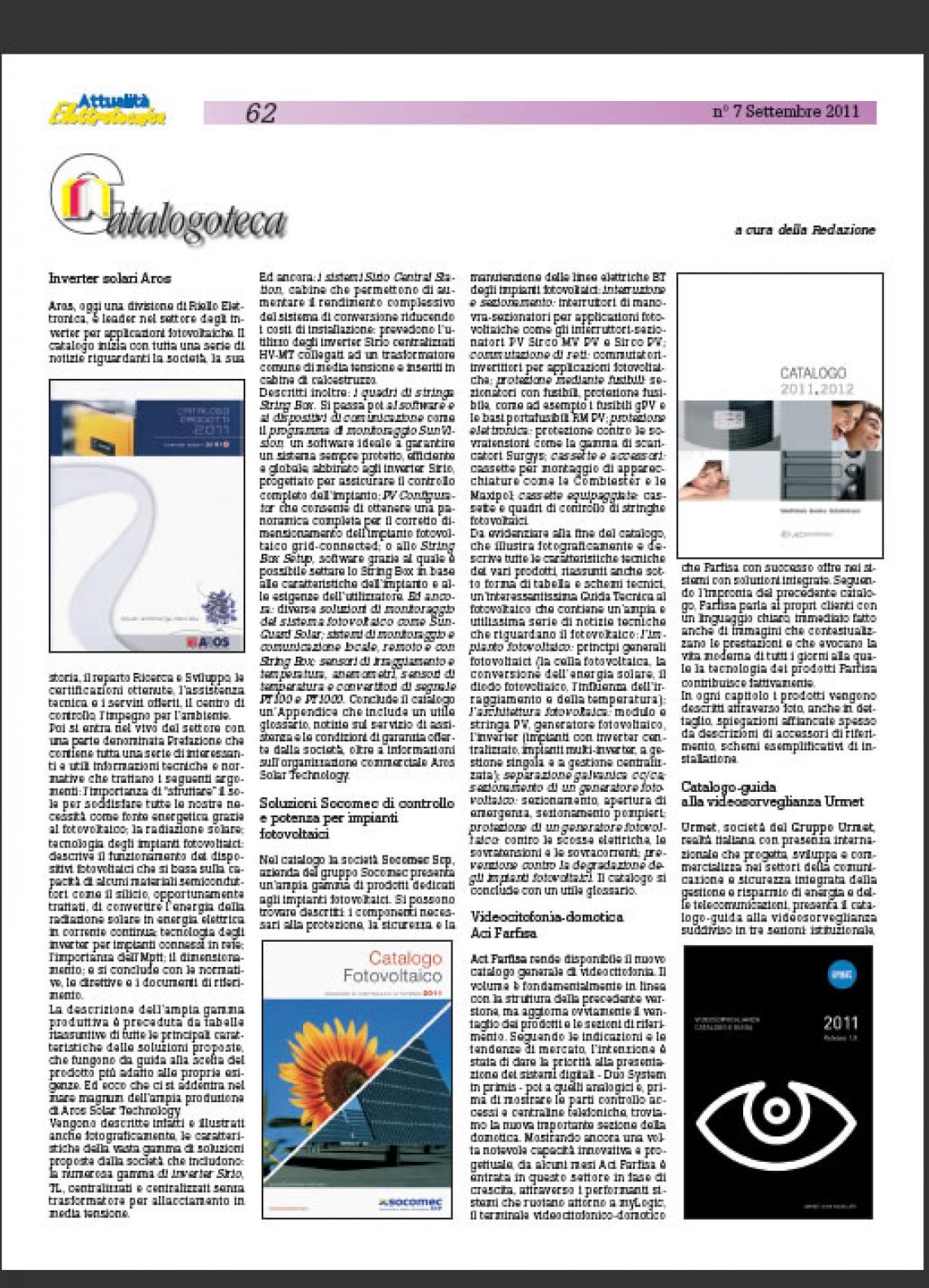 Nuovo catalogo generale Videocitofonia 2011