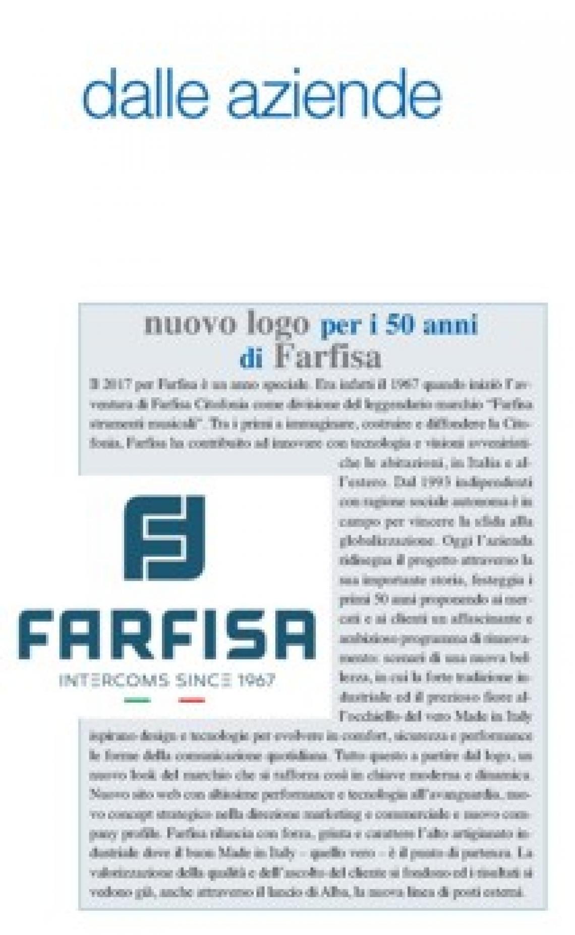 Nuovo logo per i 50 anni di Farfisa
